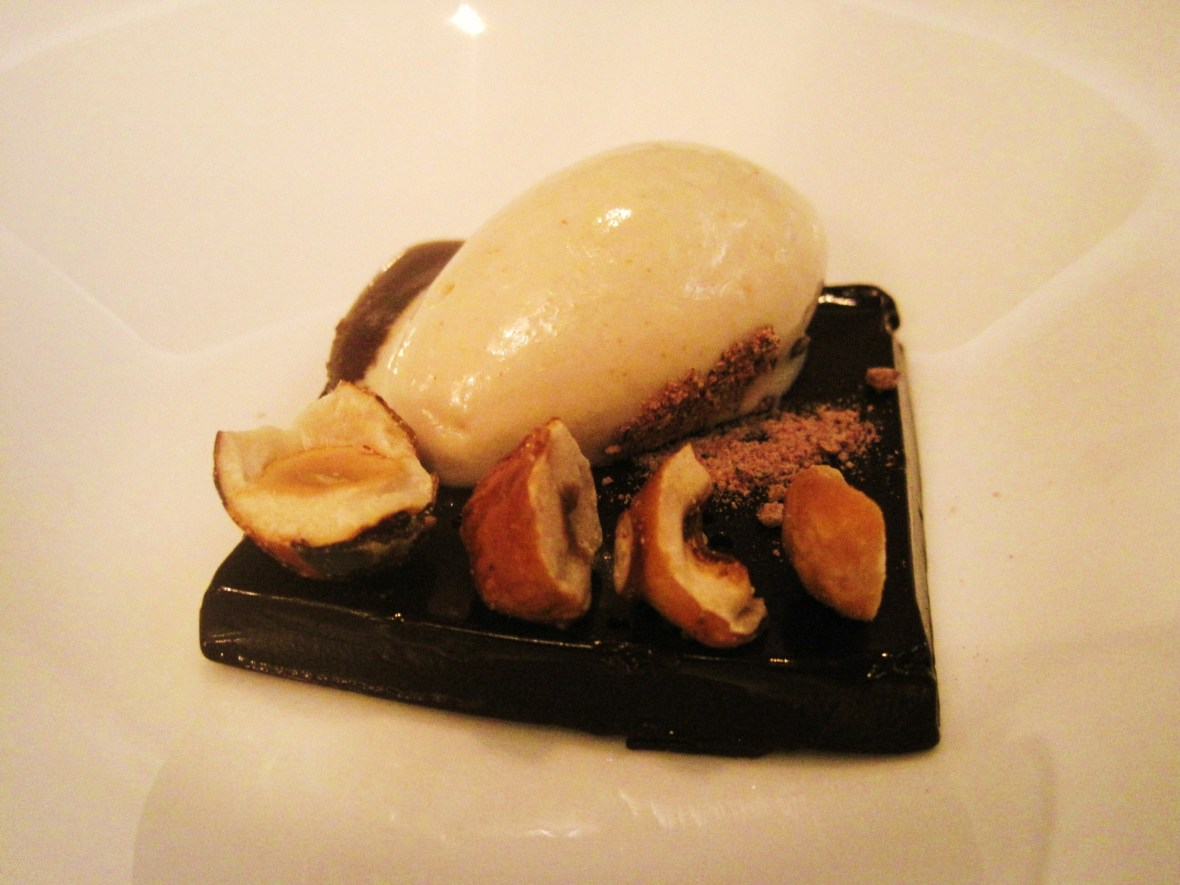 "Maze - the ""Coffee Ganache, Salted Caramel, and Hazlenut Icecream"""