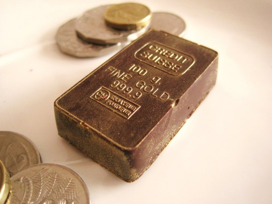 "MoMo & Coco's Advent Calendar 2012 - Christmas with Burch & Purchese - close-up of the ""Gold Bullion Bars"""