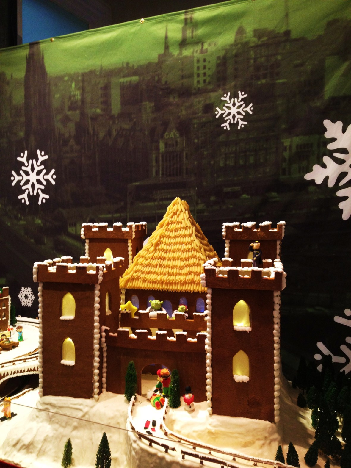 """Gingerbread Village by Epicure at the Melbourne Town Hall, December 2012 - the """"Shrek Fairytale Castle"""""""