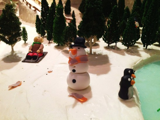 "Gingerbread Village by Epicure at the Melbourne Town Hall, December 2012 - the ""ice skating rink"""