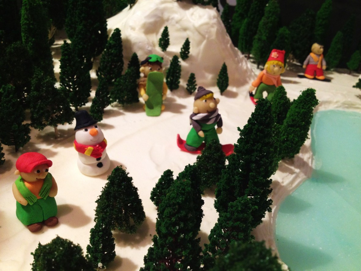 """Gingerbread Village by Epicure at the Melbourne Town Hall, December 2012 - the """"ice skating rink"""""""