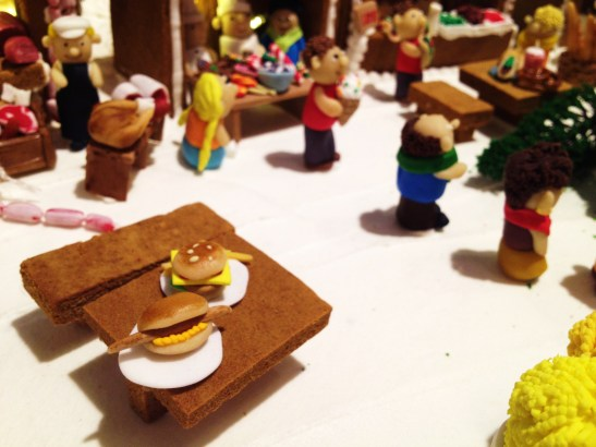 """Gingerbread Village by Epicure at the Melbourne Town Hall, December 2012 - the """"Christmas Market"""""""