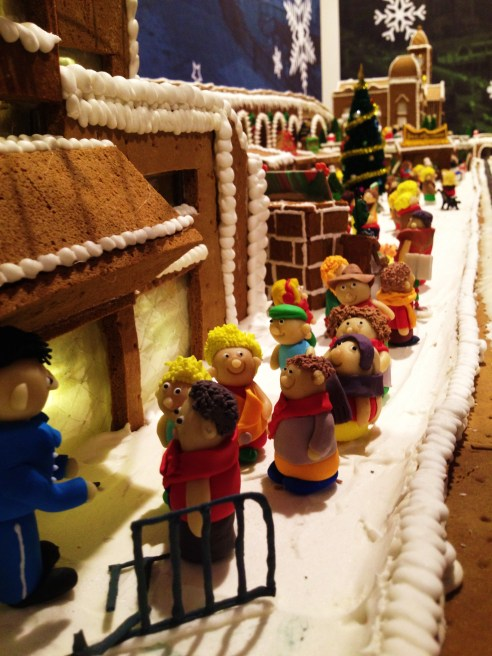 """Gingerbread Village by Epicure at the Melbourne Town Hall, December 2012 - the """"Arts Centre"""""""
