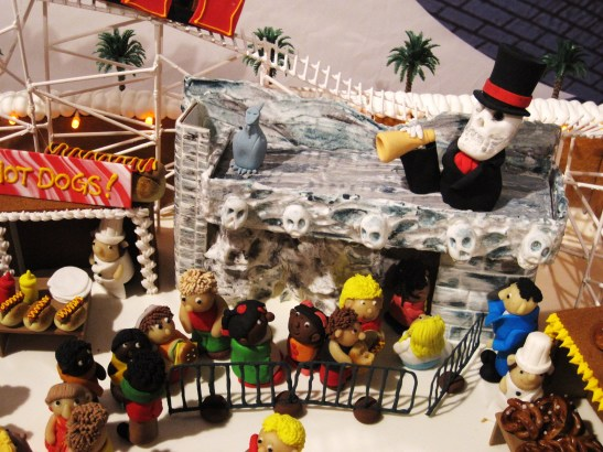 "Gingerbread Village by Epicure at the Melbourne Town Hall, December 2012 - the ""Luna Park"""