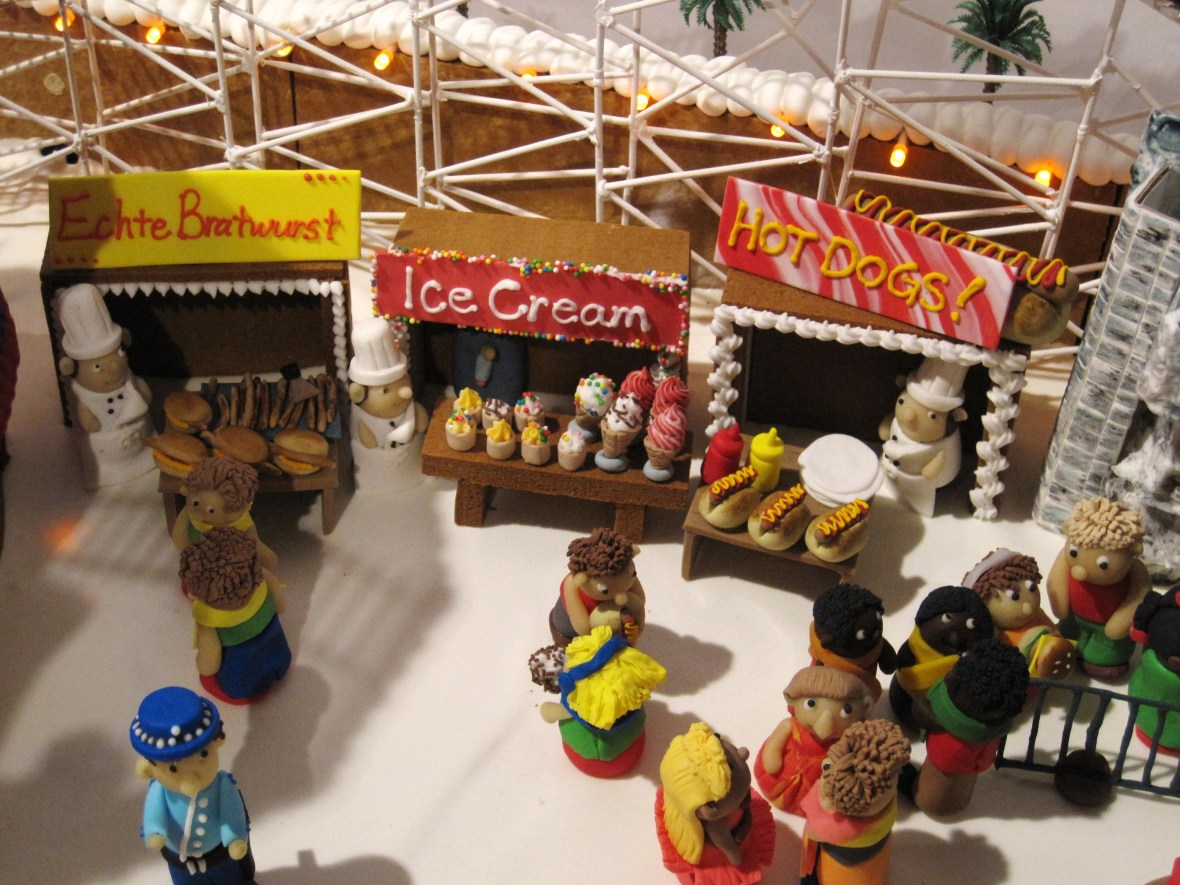 """Gingerbread Village by Epicure at the Melbourne Town Hall, December 2012 - the """"Luna Park"""""""