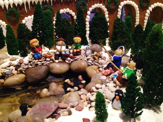 """Gingerbread Village by Epicure at the Melbourne Town Hall, December 2012 - """"fishing near the windmill"""""""
