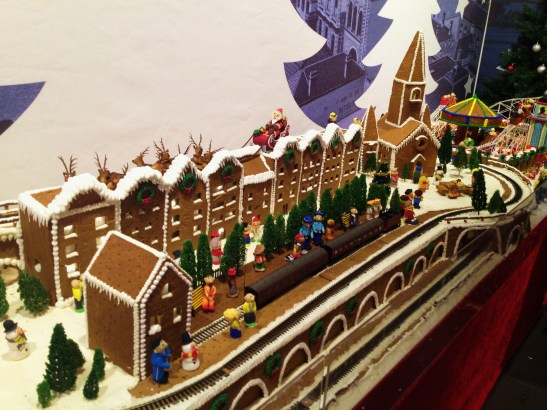 "Gingerbread Village by Epicure at the Melbourne Town Hall, December 2012 - the ""central station"""