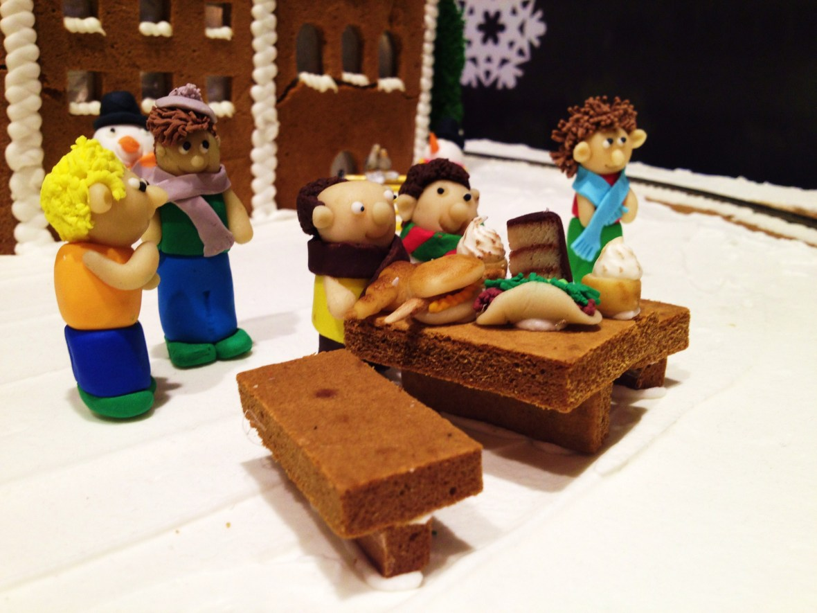 """Gingerbread Village by Epicure at the Melbourne Town Hall, December 2012 - the """"central station"""""""
