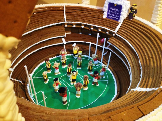 """Gingerbread Village by Epicure at the Melbourne Town Hall, December 2012 - the """"MCG"""""""