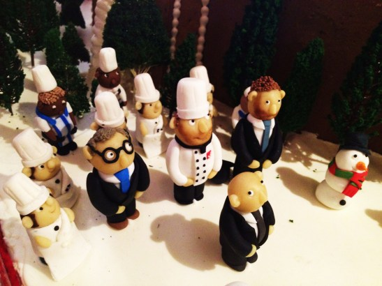 Gingerbread Village by Epicure at the Melbourne Town Hall, December 2012 - the pastry chefs