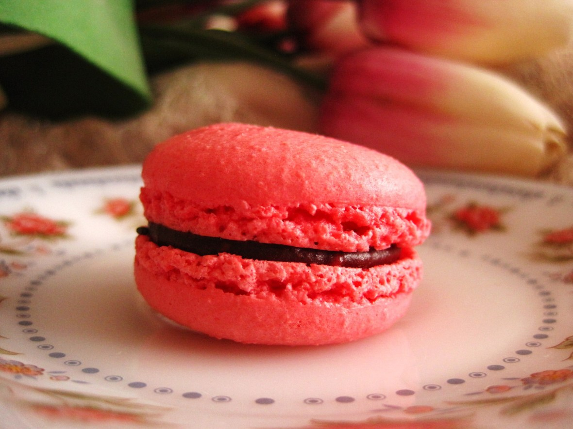 "Macarons by Josephine - the ""Raspberry Chocolate"""