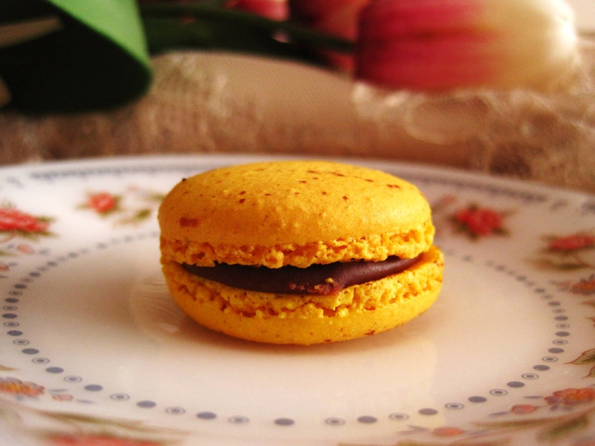 "Macarons by Josephine - the ""Passionfruit Chocolate"""