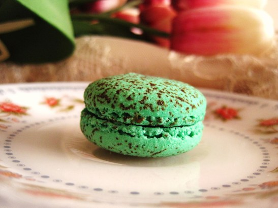 "Macarons by Josephine - the ""Peppermint Dark Chocolate"""