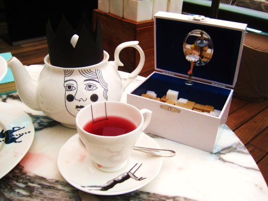 The Sanderson's Mad Hatters Afternoon Tea - the tea setting