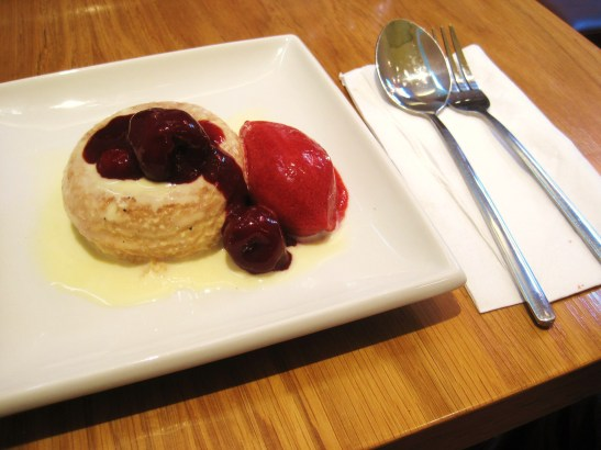 "MoMo & Coco's Belgravia Chocolate Hop, London - William Curley Dessert Bar - the ""Raspberry Savarin"""