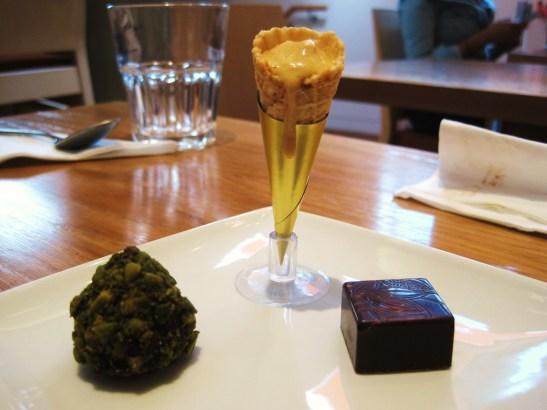 MoMo & Coco's Belgravia Chocolate Hop, London - William Curley Dessert Bar - the petit fours