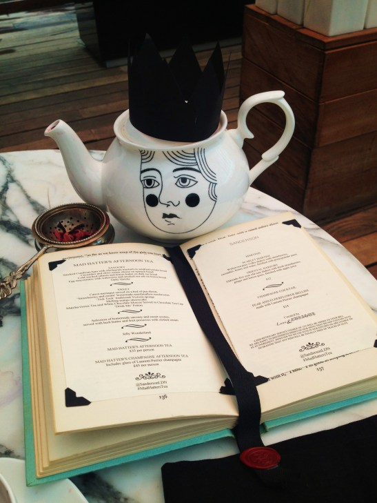 The Sanderson's Mad Hatters Afternoon Tea - the table setting