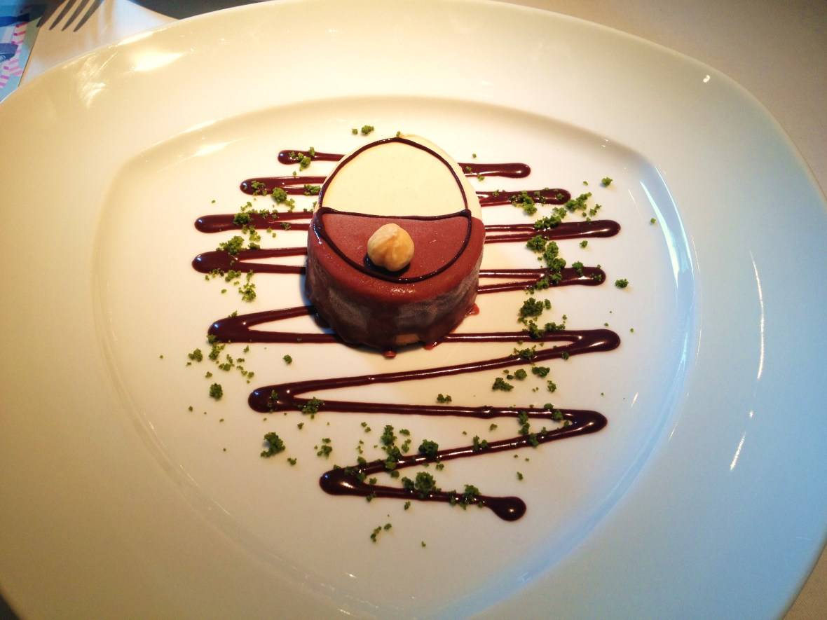 "The Montagu London - Charlie and the Chocolate Factory Desserts - ""Veruca's Hazelnut Parfait"""