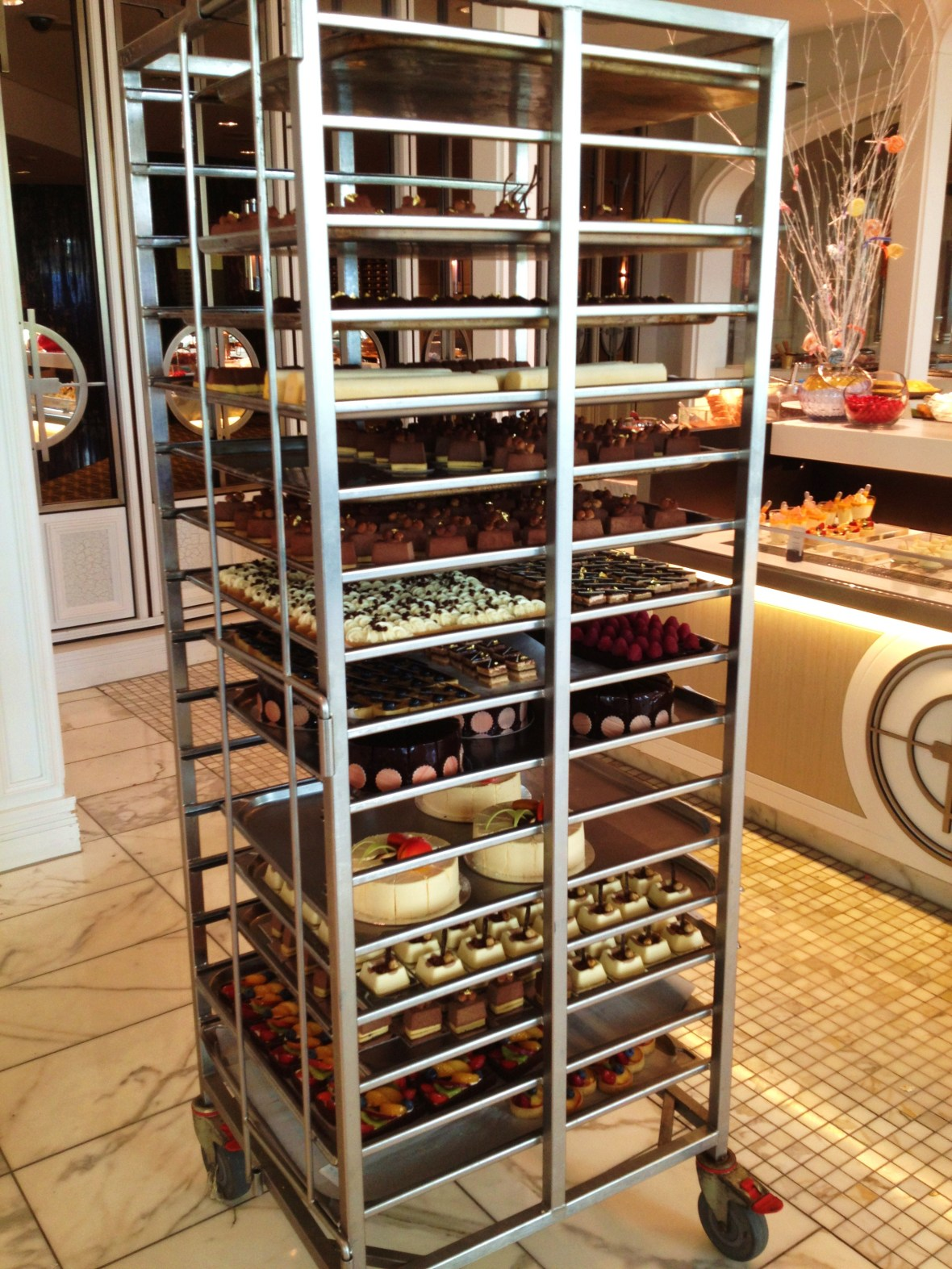 The Conservatory - the dessert trolley for dinner buffet