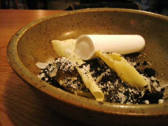 "The TownMouse -""Lemon and Yuzu Curd, White Chocolate, Burnt Coconut, Spiced Rum & Coconut Sorbet"""