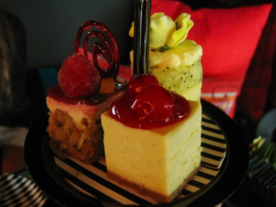 C'est le B Cakery Afternoon Tea - the third tier of cakes