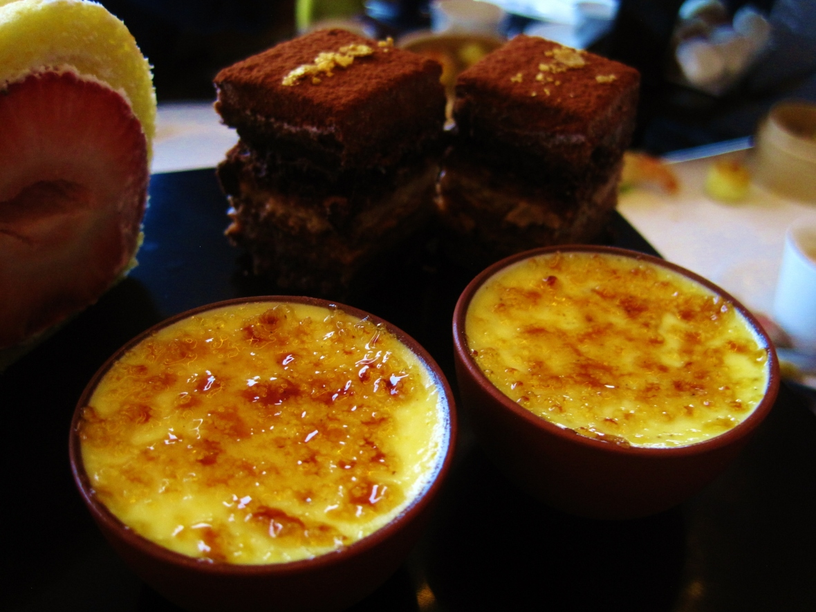 "Hotel Icon's Above and Beyond - Dim Sum Afternoon Tea - the ""Chestnut Creme Brulee"""