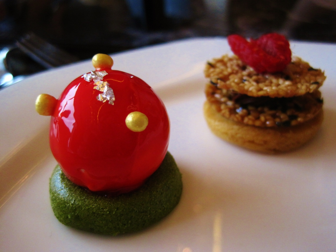"Hotel Icon's Above and Beyond - Dim Sum Afternoon Tea - the ""Raspberry Lemon Cheese Ball"""