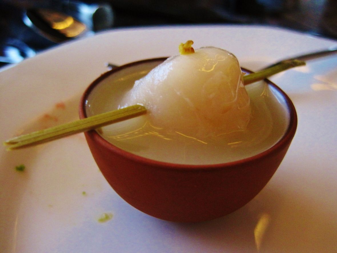 "Hotel Icon's Above and Beyond - Dim Sum Afternoon Tea - the ""Chilled Jelly with Osmanthus"""