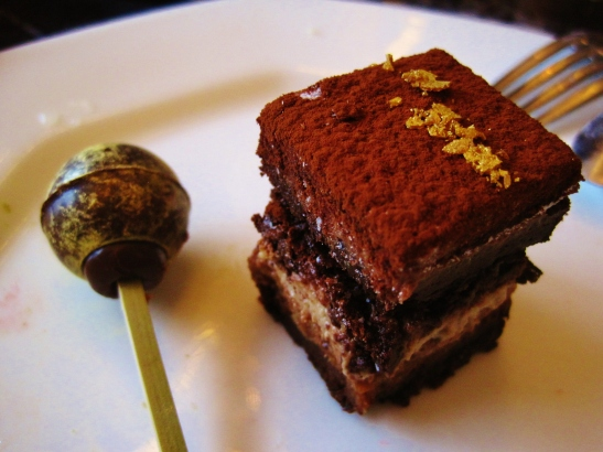 """Hotel Icon's Above and Beyond - Dim Sum Afternoon Tea - the """"Chocolate Jasmine Cake"""" and """"Chocolate Truffle"""""""