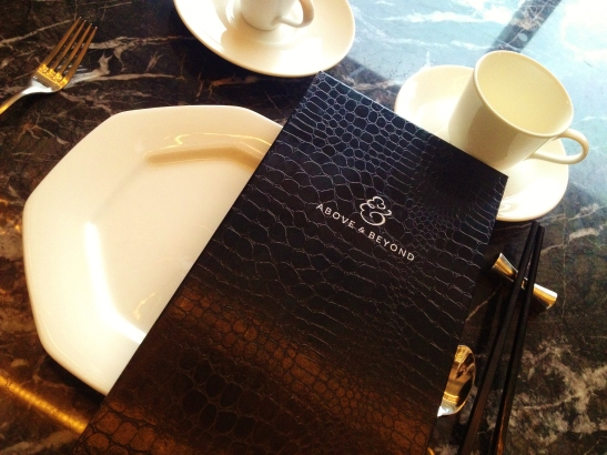Hotel Icon's Above and Beyond - Dim Sum Afternoon Tea - the table setting