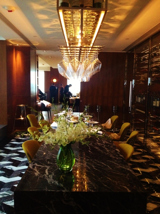 Hotel Icon's Above and Beyond - Dim Sum Afternoon Tea - the setting