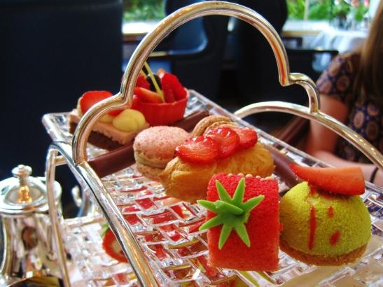 Afternoon Tea at the Island Shangri La Hong Kong - the sweet nibbles