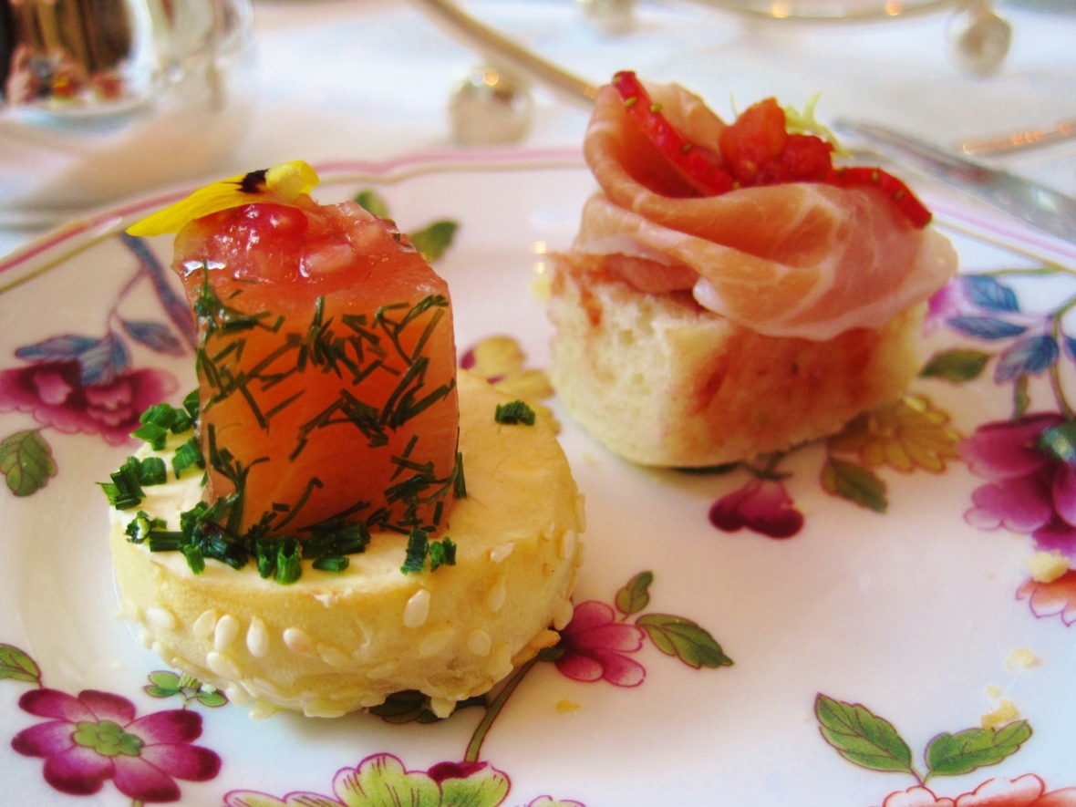 Afternoon Tea at the Island Shangri La Hong Kong - the savoury items