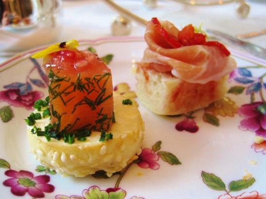 Afternoon Tea at the Island Shangri La Hong Kong - the savoury items