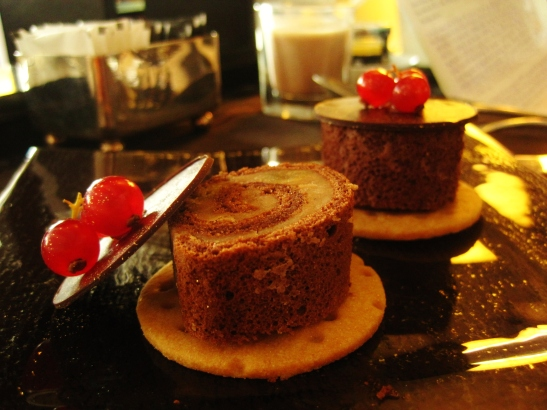 "The Ritz Carlton Hong Kong - the ""Chestnut Chocolate Swiss Roll"""