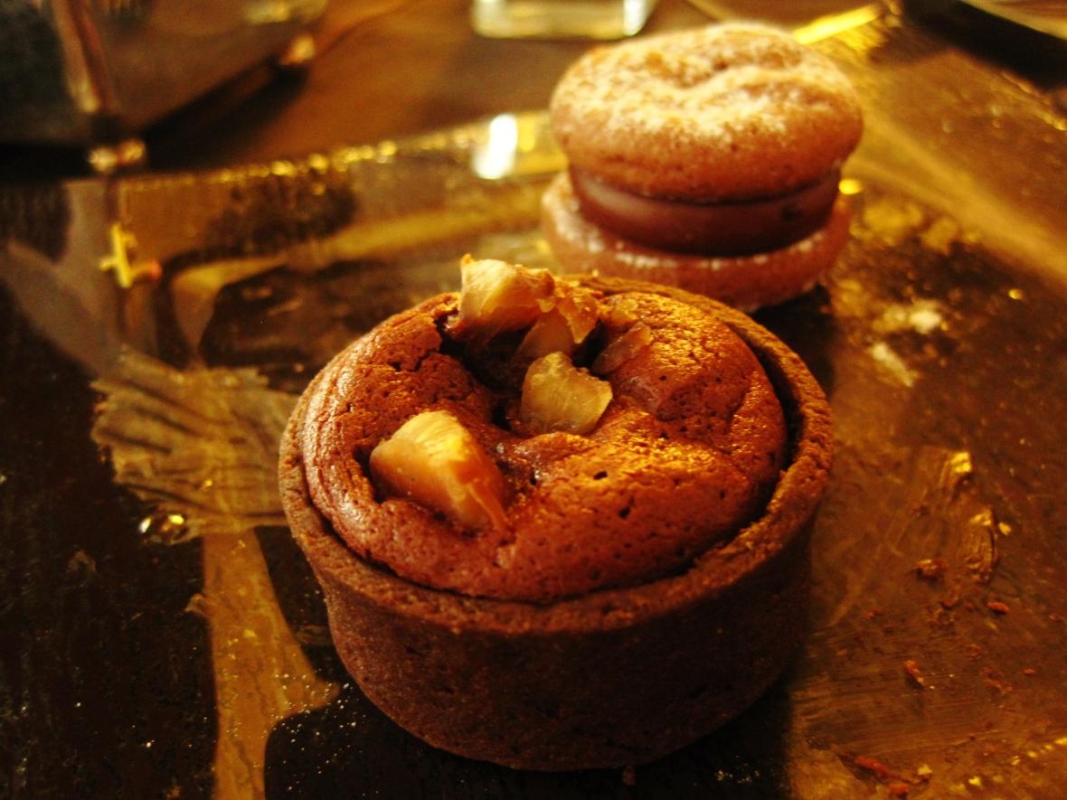 "The Ritz Carlton Hong Kong - the ""Chocolate Chestnut Tart"" and ""Chocolate Macaron"""